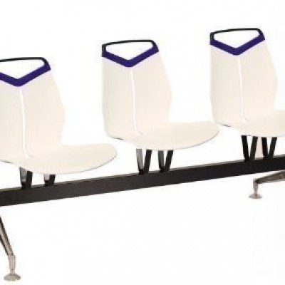 CHAIR WAITING TRIPLE  SEAT LASER - WHITE