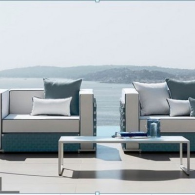SOFA OUTDOOR LILY  2 -SEATER WITH 2 CHAIR ARM & 1 CENTRE TABLE