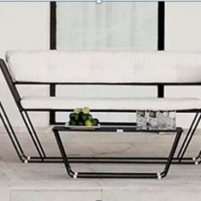 SOFA OUTDOOR FLOAT 2 -SEATER WITH 2 ARM CHAIR & CENTRE TABLE