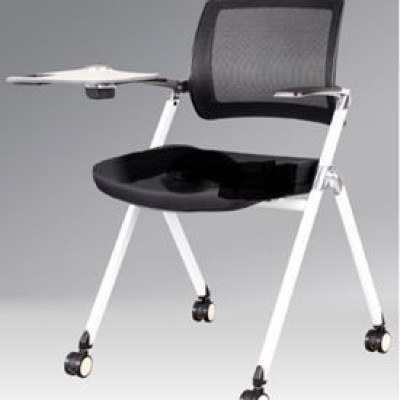 CHAIR FOR TRAINING WITH DESK BLACK TAI