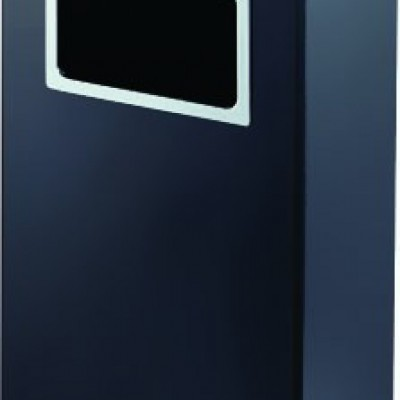 DUST BIN WITH ASTRAY  BLACK SQUARE