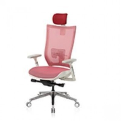 CHAIR EXECUTIVE HIGH BACK - SIREN RED MESH