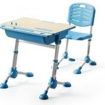 CHAIR FOR KIDS ADJ WITH TABLE ADJ BLUE C