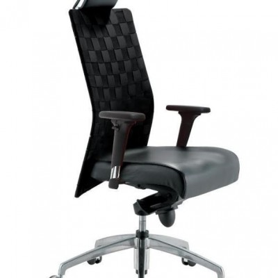 CHAIR EXECUTIVE HIGH BACK WEAVY BLACK