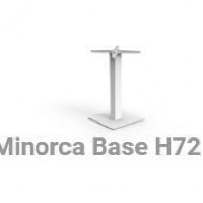 TABLE BASE MINORCA 40X40X72 -IT WHITE