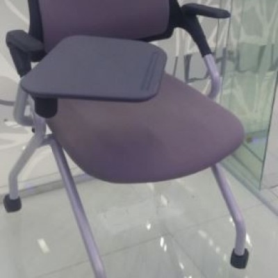 CHAIR FOR TRAINING WITH DESK BLACK KOR