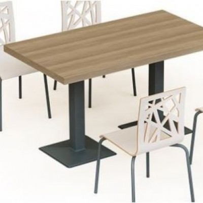 TABLE MIMOZA 138*80*75 CM HIGH STAINED OAK TUR
