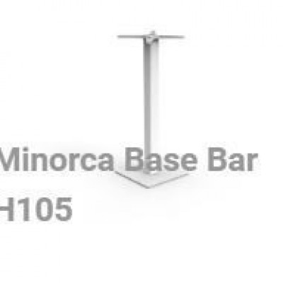 TABLE BASE BAR MINORCA 40X40X105 -IT DOVE
